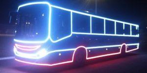 Campinas ganha ônibus coletivo com decoração natalina