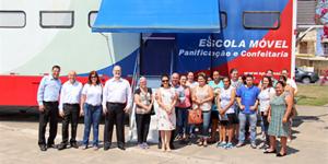 Escola móvel do Senai inicia cursos gratuitos em Morungaba