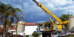 SAAE de Pedreira retira antiga Estação de Tratamento de Água