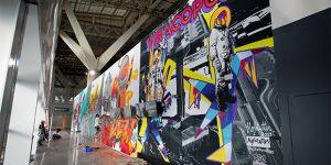 Viracopos inaugura mega painel indoor de arte urbana produzido por artistas da região de Campinas