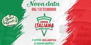 Corrida Italiana, realizada pelo Supermercado Buona Gente, tem nova data confirmada