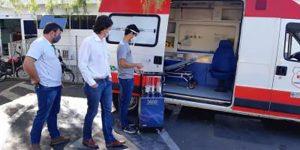 Indaiatuba utiliza tecnologia ultravioleta para esterilizar ambulâncias e unidades de saúde